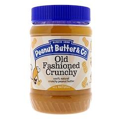 Peanut Butter & Co., Old Fashioned Crunchy، زبدة الفول السوداني المقرمشة الطبيعية 100٪، 16 أونصة (454 غرام)