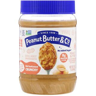 Peanut Butter & Co., Crujiente al viejo estilo, mantequilla de maní crujiente 100 % natural, 16 oz (454 g)