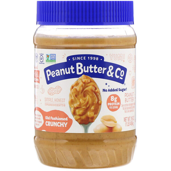 Old Fashioned Crunchy, 100% Natural Crunchy Peanut Butter, 16 oz (454 g)