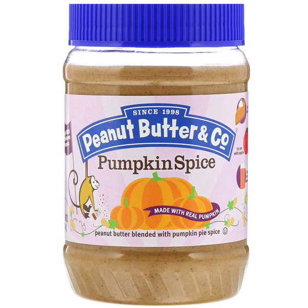 Peanut Butter & Co., Pumpkin Spice, Peanut Butter Blended with Pumpkin Pie Spice, 16 oz (454 g) (Discontinued Item)