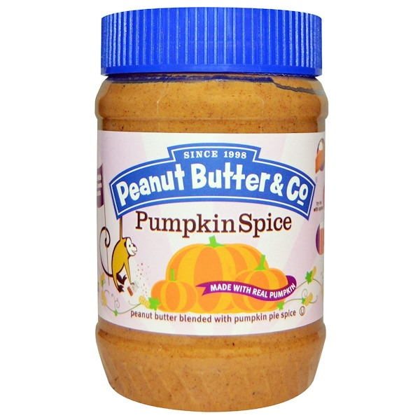 Peanut Butter & Co、, Pumpkin Spice, Peanut Butter Blended with Pumpkin Pie Spice, 16 oz (454 g)