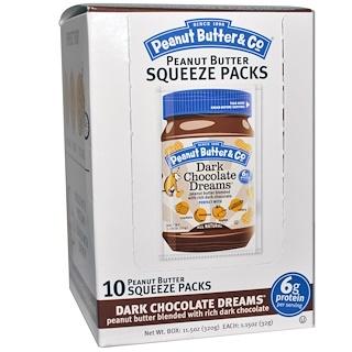 Peanut Butter & Co., スクイーズパック、ダークチョコレートドリームズ ピーナツバター、10個入り、各1.15 oz (32 g)