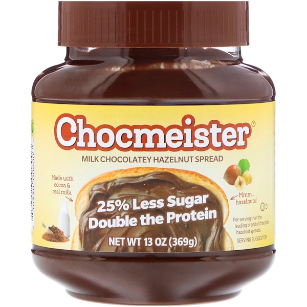 Peanut Butter & Co., Chocmeister, Milk Chocolatey Hazelnut Spread, 13 oz (369 g) (Discontinued Item)