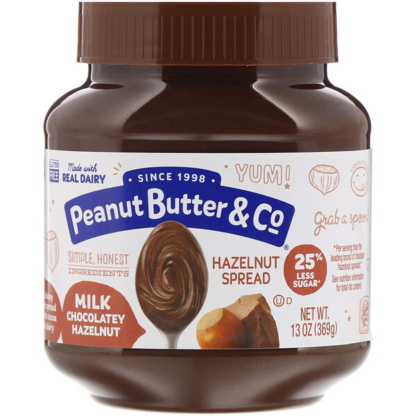 Peanut Butter & Co., Pasta untable de avellana, avellana y chocolate con leche, 13 oz (369 g)