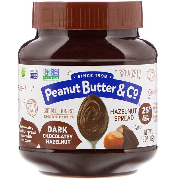 Peanut Butter & Co., Hazelnut Spread, Dark Chocolatey Hazelnut, 13 oz (369 g)