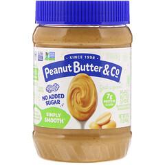 Peanut Butter & Co., Simply Smooth,花生醬,不加糖,16盎司(454克)