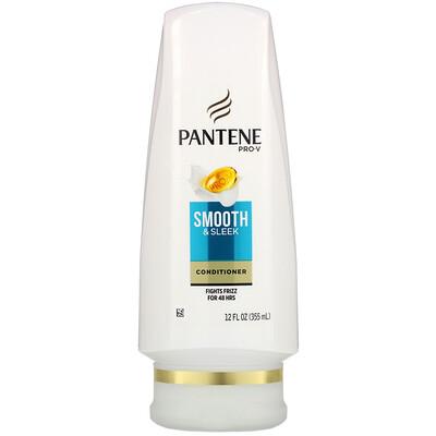 Купить Pantene Pro-V, Smooth & Sleek Conditioner, 12 fl oz (355 ml)
