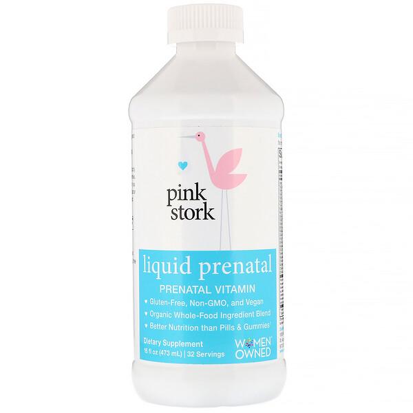 "Pink Stork, נוזל לזמן ההיריון, ויטמין להיריון, 16 אונקיות נוזל (473 מ""ל) (Discontinued Item)"