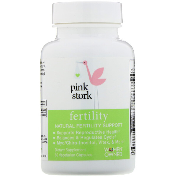 Pink Stork, Fertility, Natural Fertility Support, 60 Vegetarian Capsules (Discontinued Item)