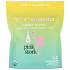 Pink Stork, 3rd/4th Trimester, Labor & Delivery Tea, Sweet Flora, Caffeine Free, 15 Pyramid Sachets, 1.32 oz (37.5 g)