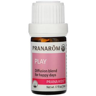 Pranarom, PRANA KIDS, Essential Oil, Play, +3 Months, .17 fl oz (5 ml)