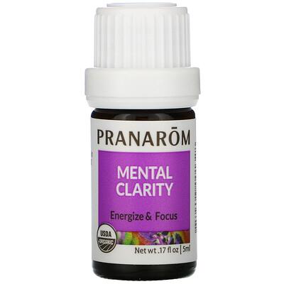 Купить Pranarom Essential Oil, Mental Clarity, .17 fl oz (5 ml)