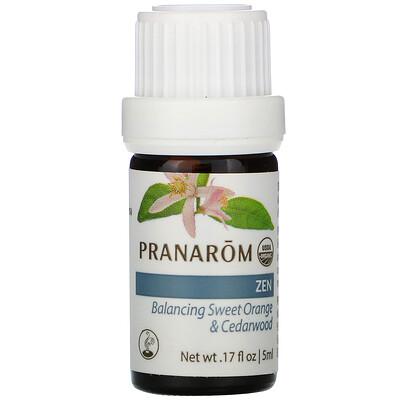 Купить Pranarom Essential Oil, Diffusion Blend, Zen, .17 fl oz (5 ml)