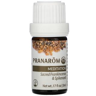 Pranarom, Aceite esencial, Mezcla para difusor, Meditación, 5ml (17oz.líq.)