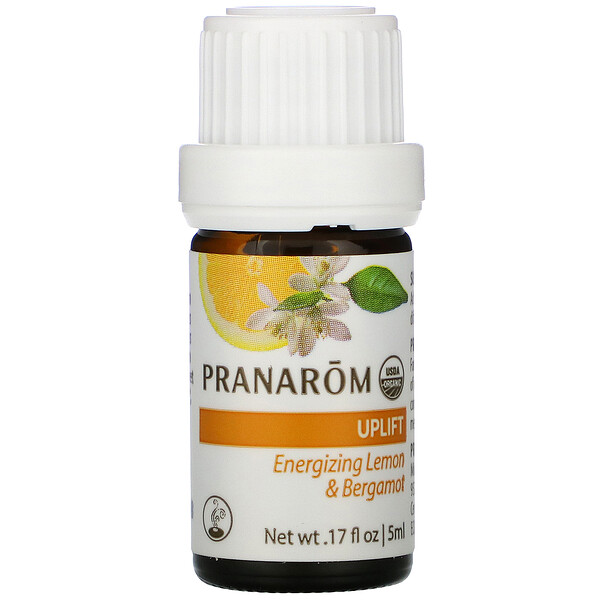 Pranarom, Essential Oil, Diffusion Blend, Uplift, .17 fl oz (5 ml)