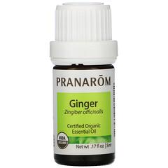 Pranarom, 精油,薑,0.17 液量盎司(5 毫升)