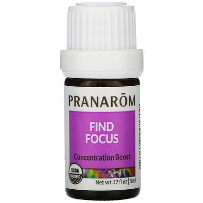 Купить Pranarom Essential Oil, Find Focus, .17 fl oz (5 ml)