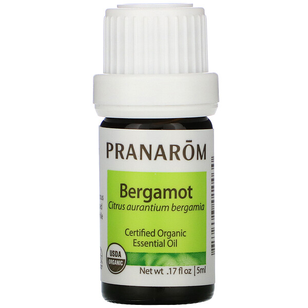 Pranarom, Essential Oil, Bergamot, .17 fl oz (5 ml)