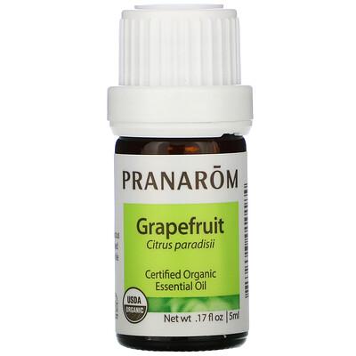 Купить Pranarom Essential Oil, Grapefruit, .17 fl oz (5 ml)
