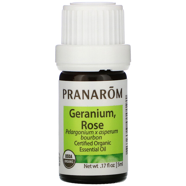 Essential Oil, Geranium, Rose, .17 fl oz (5 ml)