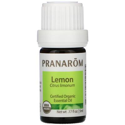 Купить Pranarom Essential Oil, Lemon, .17 fl oz (5 ml)
