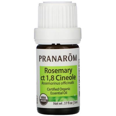 Купить Pranarom Essential Oil, Rosemary ct 1, 8 Cineole, .17 fl oz (5 ml)