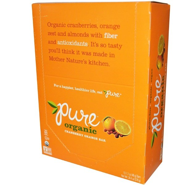 Pure Bar, Organic, Cranberry Orange, 12 Bars, 1.7 oz (48 g) Each (Discontinued Item)