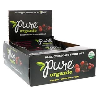 Pure Bar, Organic Dark Chocolate Berry, 12 Bars, 1.7 oz (48 g) Each