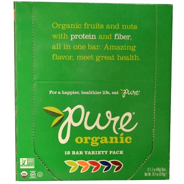 Pure Bar, Organic, ассорти, 12 батончиков по 1,7 унции (48 г) каждый (Discontinued Item)