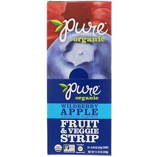 Pure Bar, Органические фруктово-овощные пластинки, дикие ягоды и яблоко, 24 пластинки, 14 г (0,49 унции) каждая