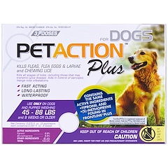 Pet Action Plus, For Large Dogs, 3 Doses - 0.091 fl oz Each