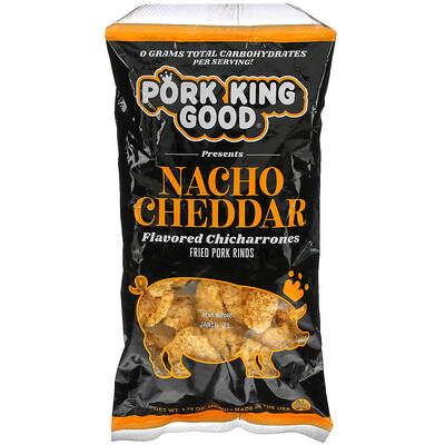 Купить Pork King Good Flavored Chicharrones, Nacho Cheddar, 1.75 oz (49.5 g)