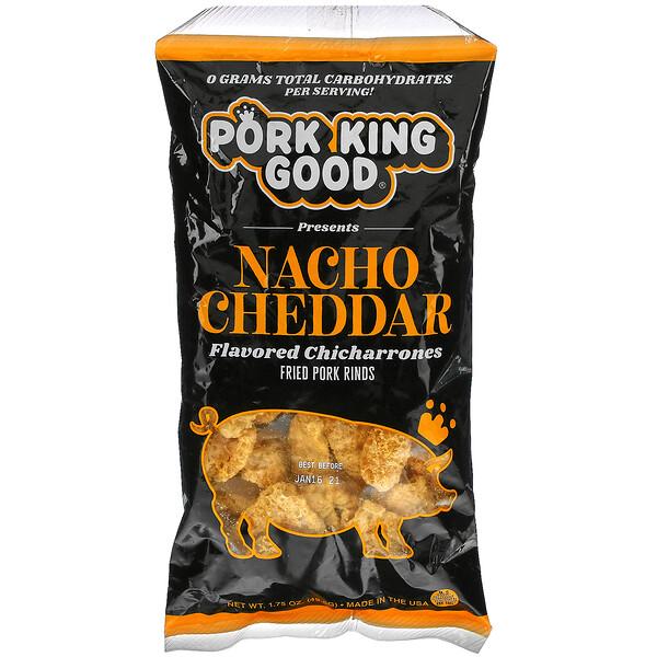 Flavored Chicharrones, Nacho Cheddar, 1.75 oz (49.5 g)