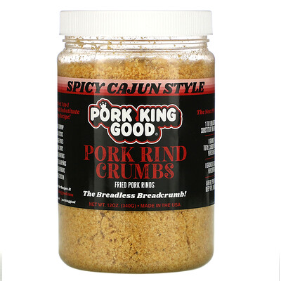 Купить Pork King Good Pork Rind Crumbs, Spicy Cajun Style, 12 oz (340 g)