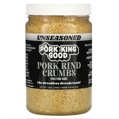 Купить Pork King Good Pork Rind Crumbs, Unseasoned, 12 oz (340 g)