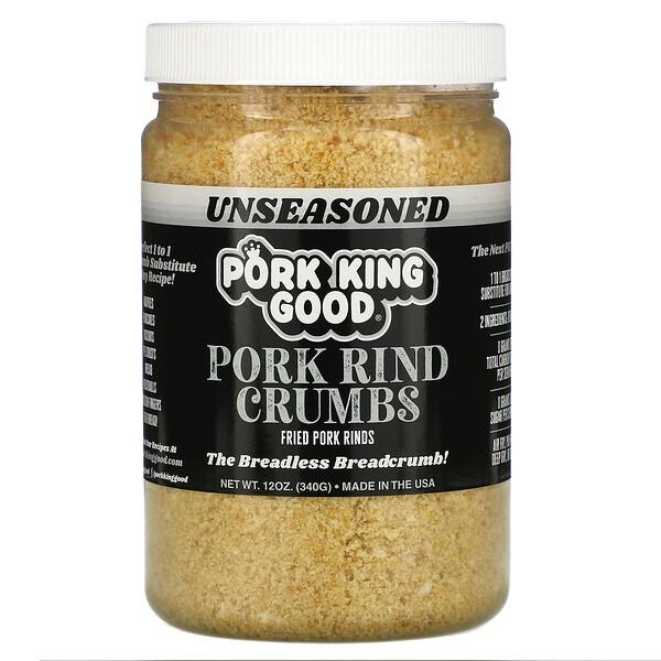 Pork Rind Crumbs, Unseasoned, 12 oz (340 g)