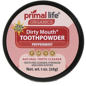 Primal Life Organics, Dirty Mouth Toothpowder, Peppermint, 1 oz (28 g) отзывы