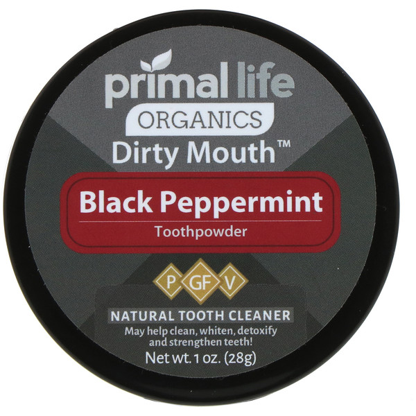 Dirty Mouth Toothpowder, Black Peppermint, 1 oz (28 g)