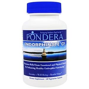 Pondera, Эндорфинат CF, 60 вегетарианских капсул инструкция, применение, состав, противопоказания