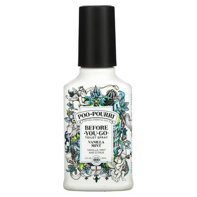 Poo-Pourri Before-You-Go Toilet Spray, Vanilla Mint, 4 fl oz (118 ml)