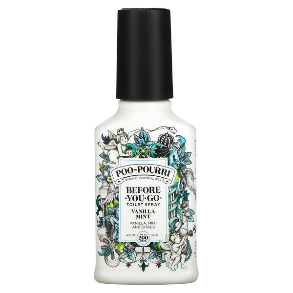 Before-You-Go Toilet Spray, Vanilla Mint, 4 fl oz (118 ml)