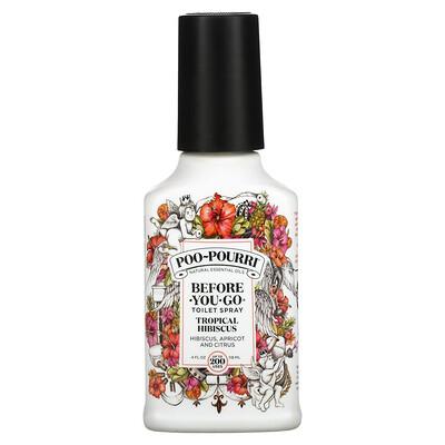 Poo-Pourri Before-You-Go Toilet Spray, Tropical Hibiscus, 4 fl oz (118 ml)