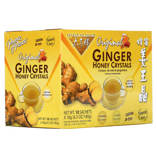 Prince of Peace, Original Ginger Honey Crystals, 10 Sachets, (18 g) Each