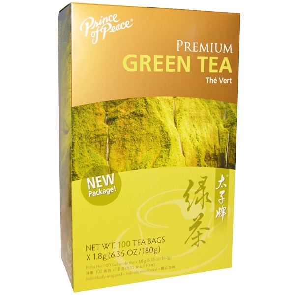 Prince of Peace, Premium Green Tea, 100 Tea Bags, 1.8 g Each