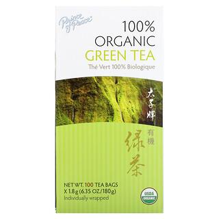 Prince of Peace, Té Verde 100% Orgánico, 100 Bolsitas, 1.8 g c/u