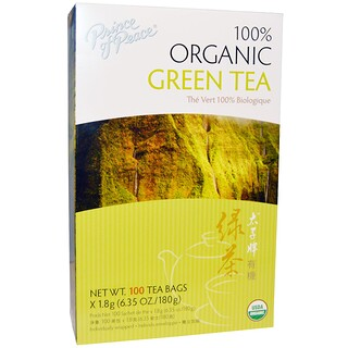 Prince of Peace, 100% Organic Green Tea, 100 Tea Bags, 1.8 g Each