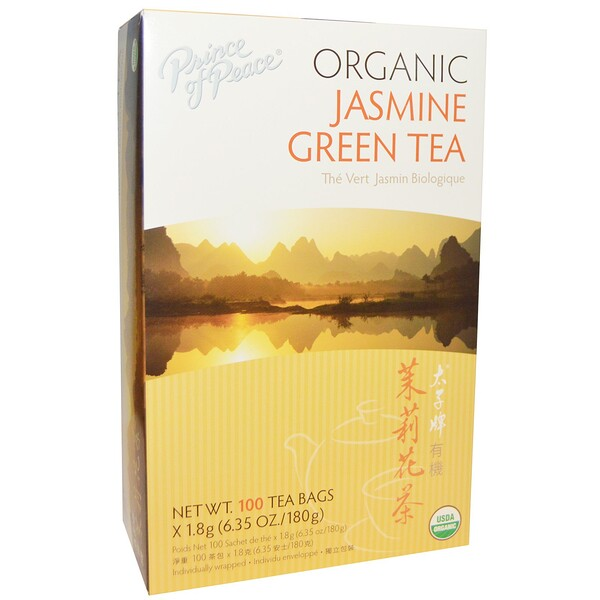 Prince of Peace, Organic, Jasmine Green Tea, 100 Tea Bags, 1.8 Each