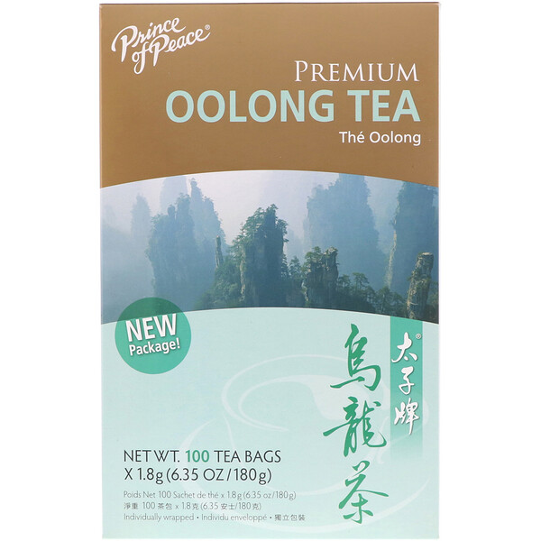 Premium Oolong Tea, 100 Individually Wrapped Tea Bags, (1.8 g) Each