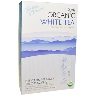 100% органический белый чай, 100 маленьких пакетиков, 1.8 г шт. цена