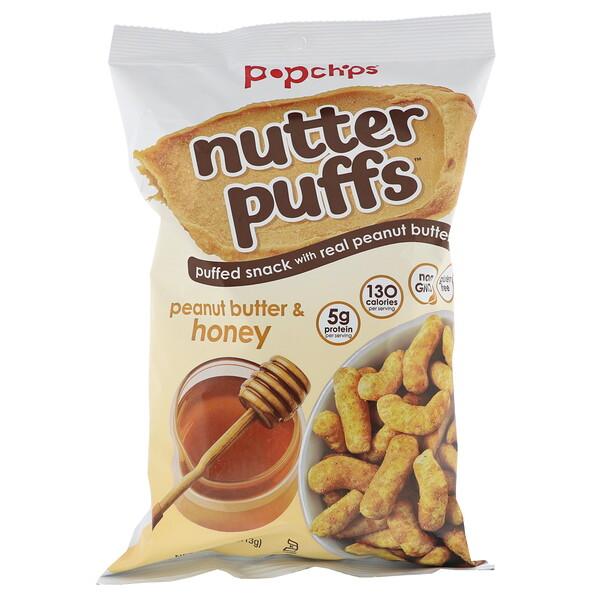 Popchips, Nutter Puffs, Peanut Butter & Honey, 4 oz (113 g) (Discontinued Item)